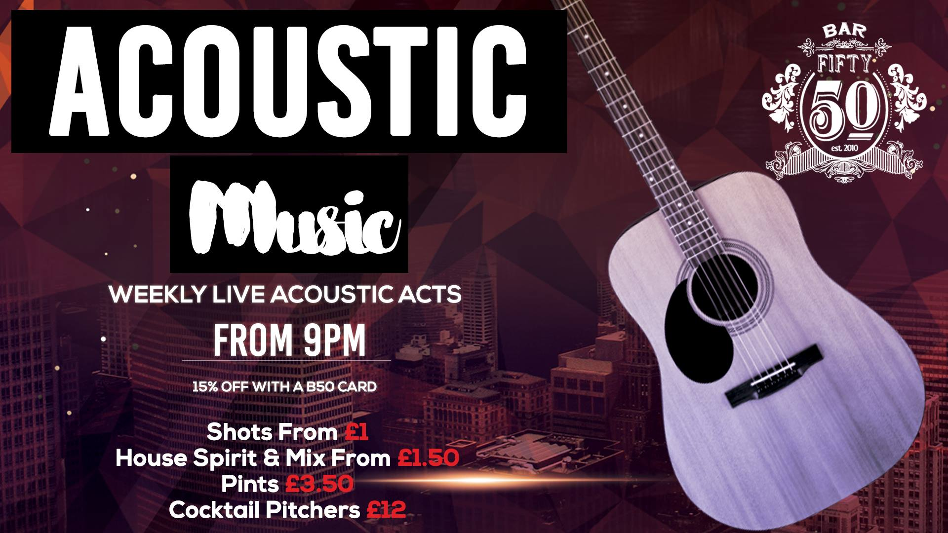 Live Acoustic Every Week!