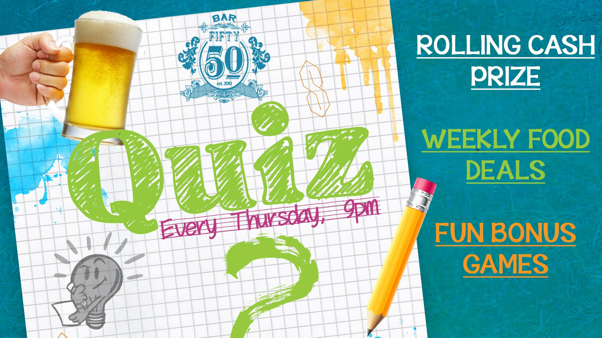 Weekly Quiz, Every Thursday 9PM